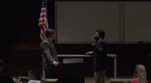 Troy University Student Government Association swears in new senators.