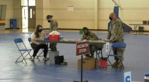 National Guard Mobile COVID Clinic vaccinates Pike County residents.