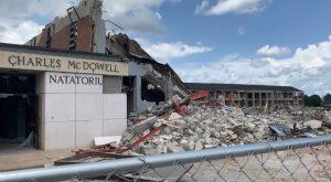 Demolition begins on Troy University's Natatorium and Hamil Hall.