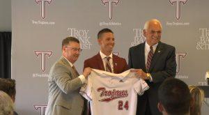 Troy University names Skylar Meade as new Trojan Baseball Head Coach.