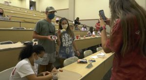 Trojan Outreach encourages students to Keep Rockin' with painting event.