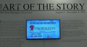 Troy University's International Arts Center displays the Art of the Story from journalism students.