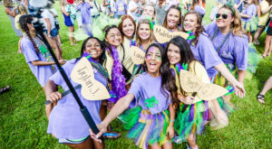 Sorority members participating in Bid Day 2016 at Troy University. Discussions are underway to bring a new sorority to the Troy Campus.
