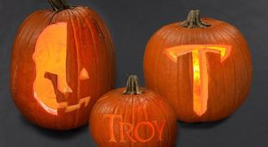 Download our TROY themed carving stencils to add some Trojan Warrior Spirit to your Halloween pumpkins.