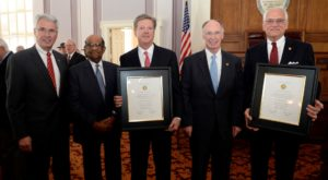 Troy University Chancellor, Dr. Jack Hawkins, Jr., was one of two inductees into the Alabama Academy of Honor during a ceremony at the State Capitol.