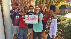Troy students thankful for success of football team