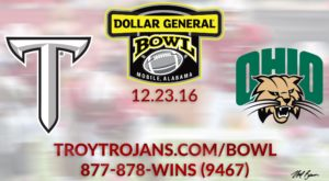 TROY will face the Ohio Bobcats on Dec. 23 in Mobile.