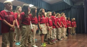 Local elementary students perform Christmas songs at Dothan Campus