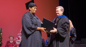 TROY graduate Mica Robinson overcame homelessness to earn her degree.
