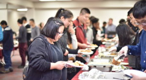 Students gathered at the Trojan Center Ballrooms last Friday for an international Chinese New Year celebration.