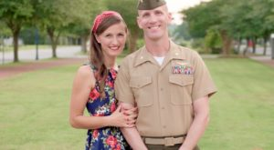 Troy University graduate Leeanne Grunke has been nominated for the Military Spouse of the Year Award.