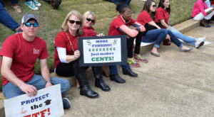 Troy University students called on lawmakers to increase funding for higher education during the recent Higher Education Day Rally in Montgomery.