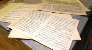 The United States Marine Band donated more than 2,000 pounds of sheet music to Troy University, much of it historical in nature.