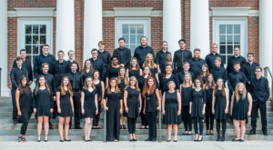 Members of the Troy University Concert Chorale. The group has been invited to perform next year at Carnegie Hall in New York City.