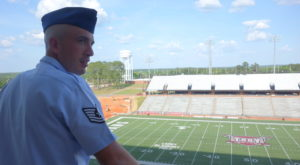 Air Force Staff Sgt. Jonathan Bellio is a TROY Online student who was named the USO Airman of the Year in 2016.