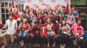 Troy University students during a 2016 Summer Send Off Party in Dothan. The 2017 Summer Send Off parties start this week.