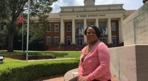 Sharon Neal is among the social work graduate students volunteering to help a mental health support group in Marianna, Fla.