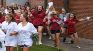 More than 300 freshmen find 'home away from home' on Bid Day