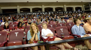 Freshmen kicked off their Troy University experience at the Odyssey Convocation on Sunday at the Troy Campus.