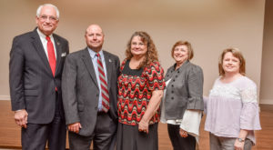 Tammy Hughes received TROY's Vergil Parks McKinley Award on Tuesday. She was nominated by department chairs within the College of Education.