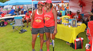 TROY student Jada Thornton, right, with her mother during the 2017 Dragon Boat Race in Montgomery. Her team raised money for Children's Hospital.
