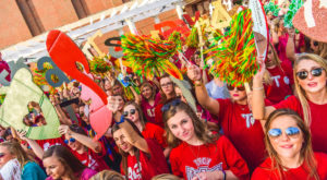Students at the 2016 Homecoming Pep Rally. Homecoming week 2017 kicks off Oct. 23.