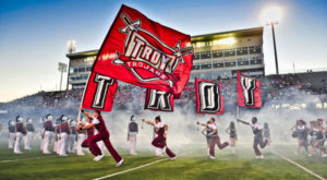 The new Revenue Generation class gives students hands-on experience at TROY football games.