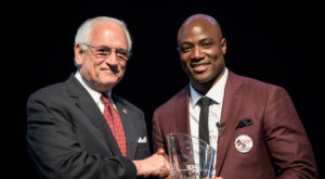 In 2016, alumnus DeMarcus Ware received TROY's Distinguished Leadership Award. Ware will address graduates at the Troy Campus commencement on Dec. 15.