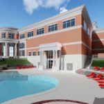 Artist's rendering of Trojan Fitness Center swimming pool.