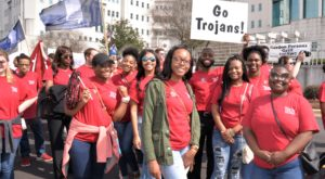 Troy University students participate in 2018 Higher Education Day in Montgomery on Feb. 22.
