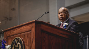 Rep. John Lewis delivered the keynote address to open the Leadership Conference Celebrating African American History Month at TROY on Friday night.