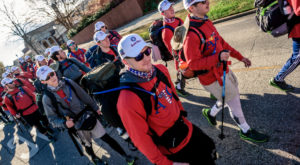 The 33 TROY students will walk from Troy to Panama City Beach, Florida, to raise money for wounded veterans.