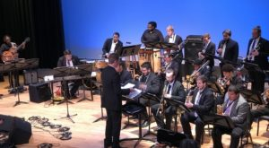 Troy University's Jazz Ensemble and Vocal Jazz Ensemble performed together at the Dothan Opera House.