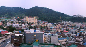 The Gwangu, South Korea, skyline. TROY psychology major Claire Humphreys will study here this summer thanks to a U.S. State Department scholarship.