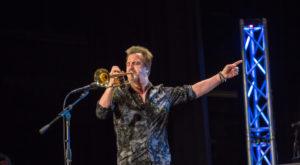 Former Letterman trumpeter Al Chez visits TROY