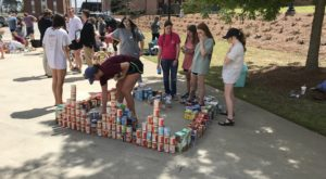 Greek organizations gathered more than 6,500 food items for Campus Kitchens and Backpacks for Kids.
