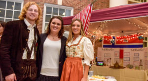 Students from the Sorrell College of Business held a competition based on their ability to create trade show displays on various countries.
