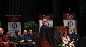 Curry encourages TROY students to be the become the best versions of themselves