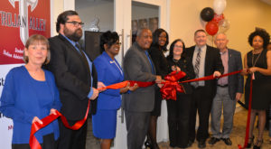 City and chamber officials joined Troy University in cutting the ribbon for its new Registrar's Office located at the Phenix City Riverfront Campus.