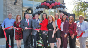 Troy University staff joined the Greater North Fulton Chamber of Commerce and local leaders for a ribbon cutting at the University's new location.