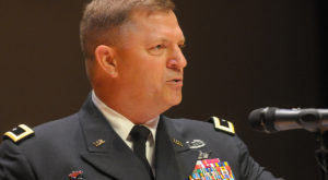 Maj. Gen. William K. Gayler, commanding general of the U.S. Army Aviation Center of Excellence and Fort Rucker, spoke to Dothan Campus graduates.