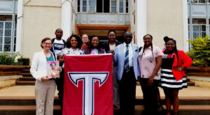 TROY College of Education students and faculty visited the Buganda Parliament and met the Speaker of the Parliament, the Hon. Nelson Kawalya.
