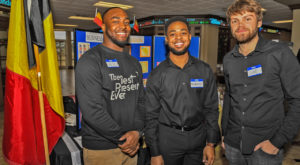 Sorrell College of Business students at Troy University taking part in the Student International Trade Show.