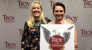 Troy University invited members of the military and their families to a ribbon cutting ceremony for the new center in Clarksville, Tennessee.