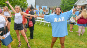 ADPi welcomed new members during bid day activities on Saturday, Aug. 11.