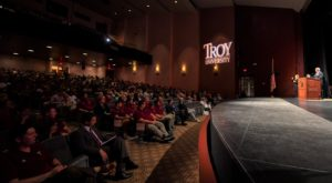 Troy University welcomed new faculty members during the 2018 Faculty/Staff Convocation on Friday on the Troy Campus.