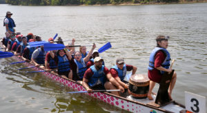 TROY brought home a gold medal from the ninth annual Montgomery Dragon Boat Festival and Race on Saturday at Montgomery's Riverfront Park.
