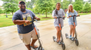 The University has partnered with Spin to provide bicycles and scooters to students and members of the community.