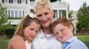 Katie Hawkins Beall, shown with her children Ellyotte and Noah, will speak about her liver transplant and discuss organ donation on Sept. 19.