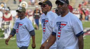 TROY paid tribute to Vietnam veterans from all branches of the military during the annual Military Appreciation game Saturday at the Vet.